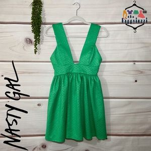 Nasty Gal Green Spin Off Mini Dress S